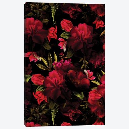 Dark Red Vintage Roses Canvas Print #UTA266} by UtArt Art Print