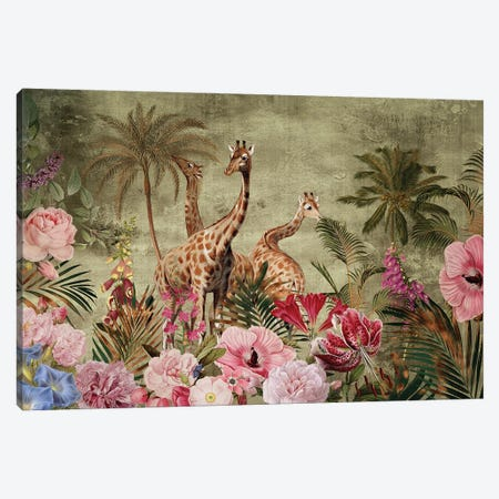 Africa Safari - Exotic Vintage Journey Canvas Print #UTA27} by UtArt Canvas Art Print