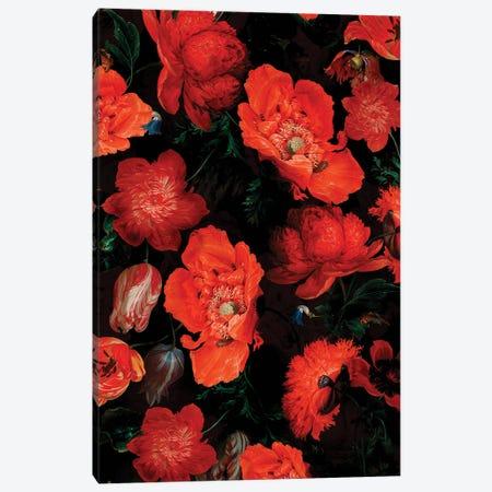 Antique Jan Davidsz. De Heem Lush Poppies Flower Garden Canvas Print #UTA33} by UtArt Art Print
