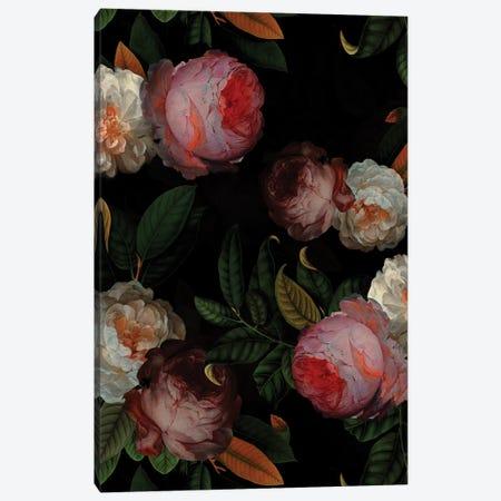 Antique Jan Davidsz. De Heem Roses Night Garden Canvas Print #UTA34} by UtArt Canvas Wall Art