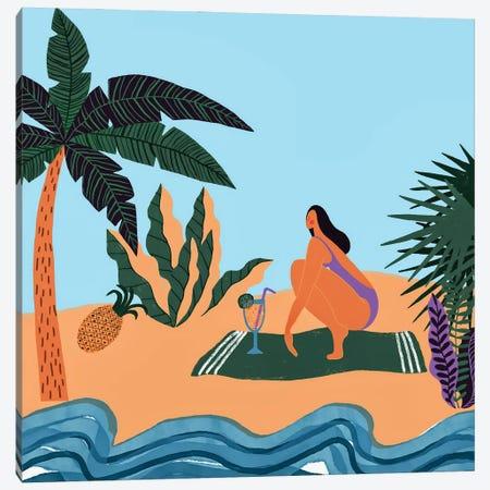 At The Beach Canvas Print #UTA41} by UtArt Canvas Artwork