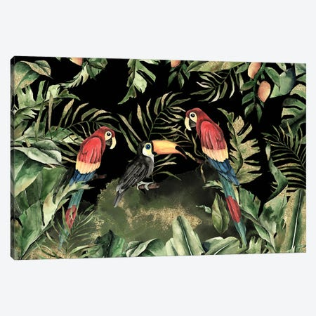 Birds Night Jungle Canvas Print #UTA43} by UtArt Canvas Art