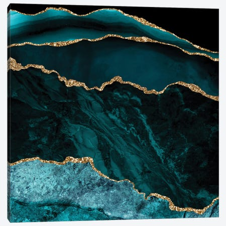 Blue Agate And Marble Canvas Print #UTA44} by UtArt Canvas Art Print
