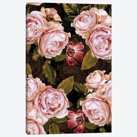Blush Real Night Roses Garden Canvas Print #UTA62} by UtArt Canvas Art