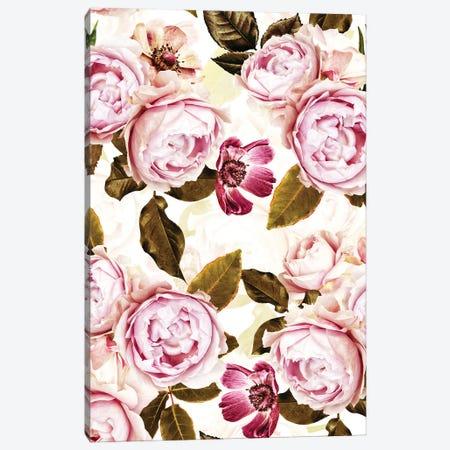 Blush Real Roses I Canvas Print #UTA63} by UtArt Canvas Art