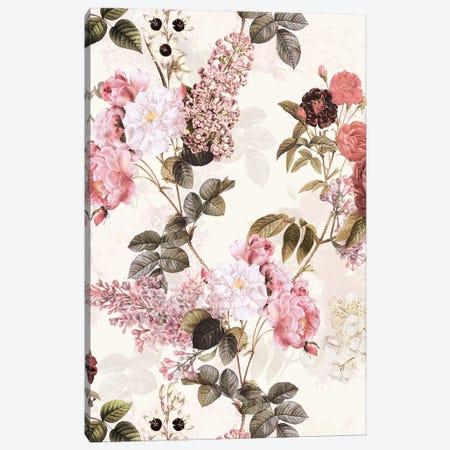 Blush Redouté Roses Garden Canvas Print #UTA65} by UtArt Canvas Art Print