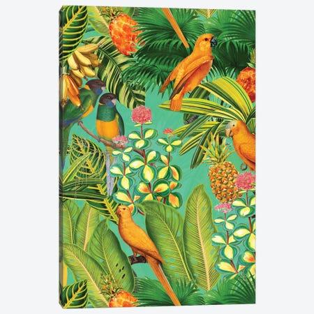 Colorful Birds Vintage Jungle Canvas Print #UTA70} by UtArt Art Print
