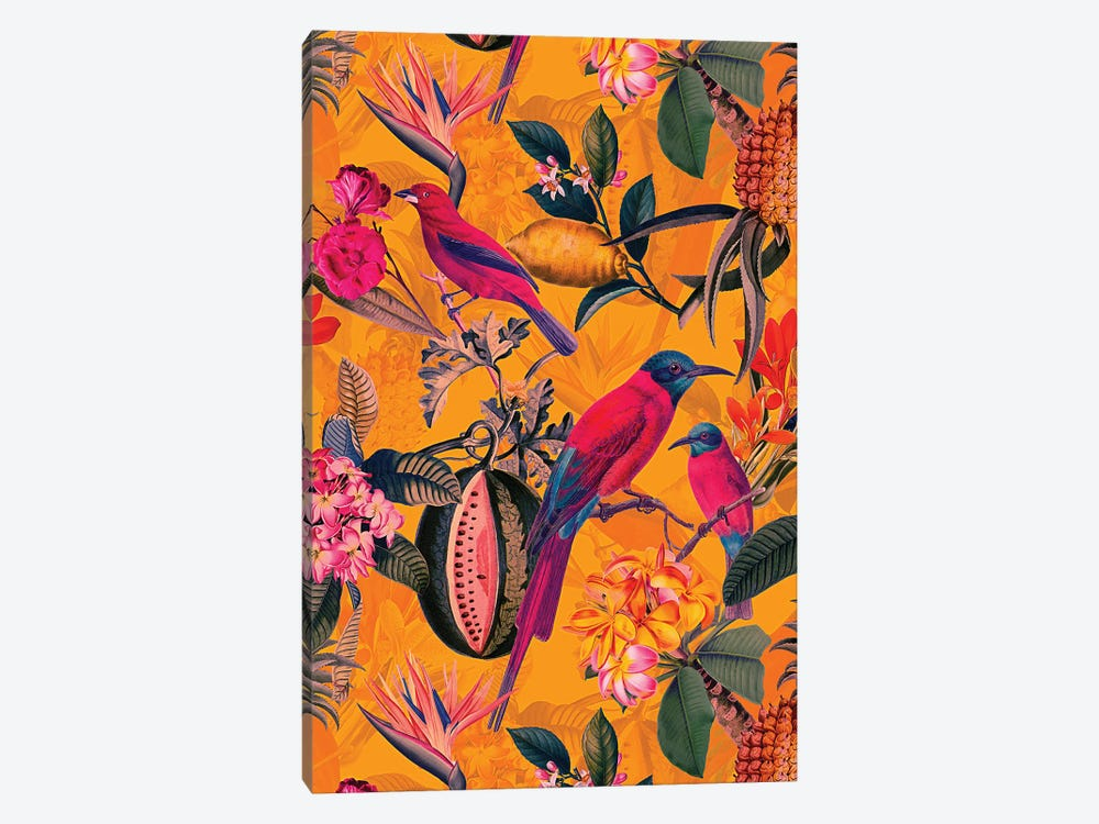Colorful Tropical Jungle by UtArt 1-piece Canvas Wall Art