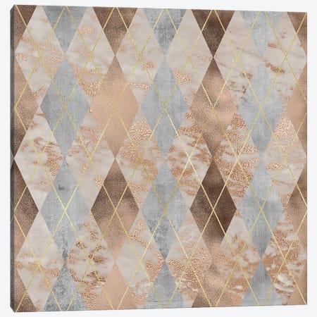 Copper And Marble Argyle Canvas Print #UTA76} by UtArt Canvas Artwork
