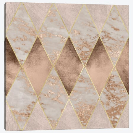 Copper And Marble Argyle Large Canvas Print #UTA77} by UtArt Canvas Artwork