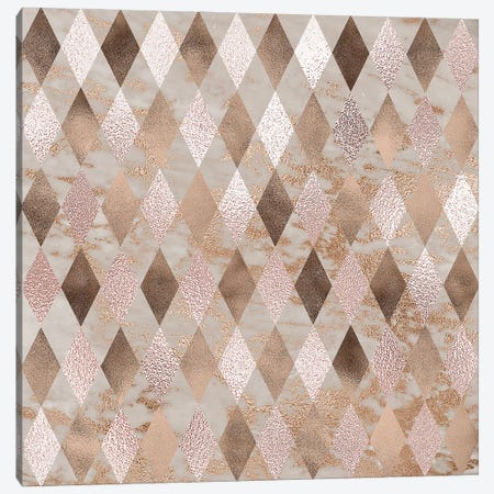 Copper And Marble Argyle Small Canvas Print #UTA78} by UtArt Canvas Print