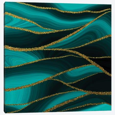 Emerald Agate And Marble Landscape Canvas Print #UTA93} by UtArt Art Print