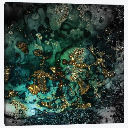 Emerald And Gold Marlble Canvas Print #UTA94} by UtArt Canvas Wall Art