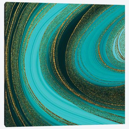 Emerald Gold Marble Canvas Print #UTA96} by UtArt Canvas Wall Art