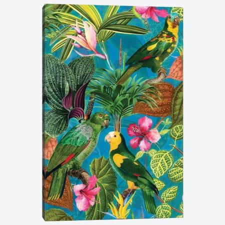 Exotic Parrot Vintage Jungle Canvas Print #UTA98} by UtArt Art Print
