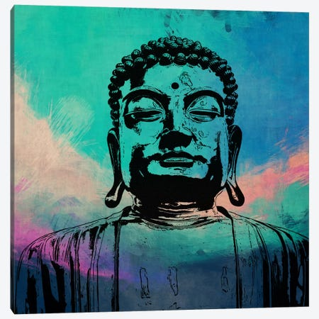 Buddha Impressions #3 Canvas Print #UVP17c} by Unknown Artist Canvas Wall Art