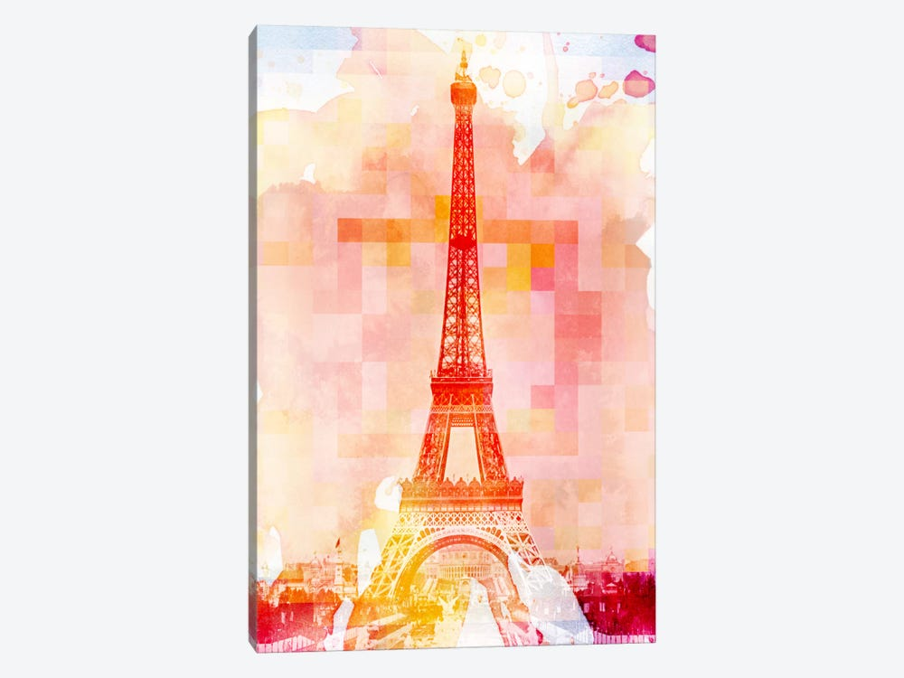 Eiffel Tower Rose Pallet Slate by iCanvas 1-piece Art Print