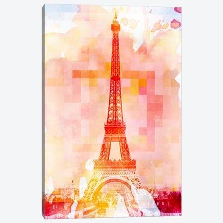 Eiffel Tower Rose Pallet Slate Canvas Print #UVP1} by Unknown Artist Canvas Art Print