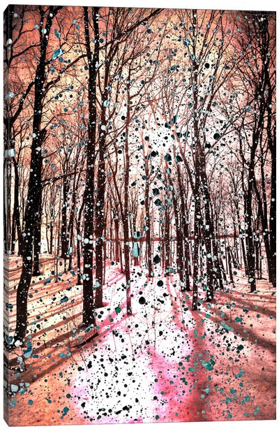 Birches Impression Canvas Art Print
