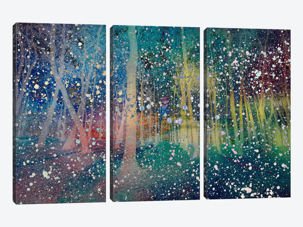 Birches Impression #2 by iCanvas 3-piece Canvas Wall Art