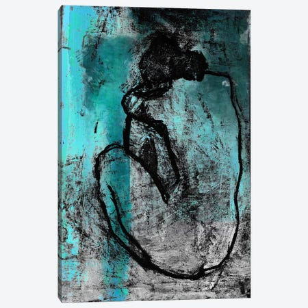 The Nude in Blue Canvas Print #UVP30b} by Unknown Artist Art Print