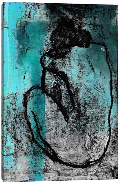 The Nude in Blue Canvas Print #UVP30b