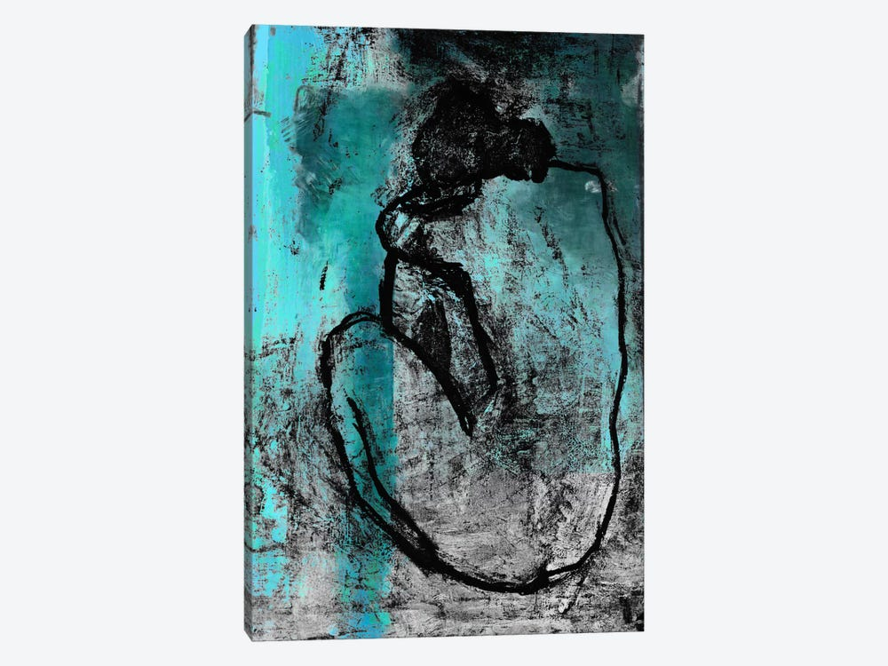 The Nude in Blue by Unknown Artist 1-piece Canvas Wall Art