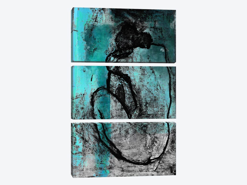 The Nude in Blue by Unknown Artist 3-piece Canvas Wall Art