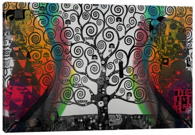 Life Tree in Negatives #2 Canvas Art Print