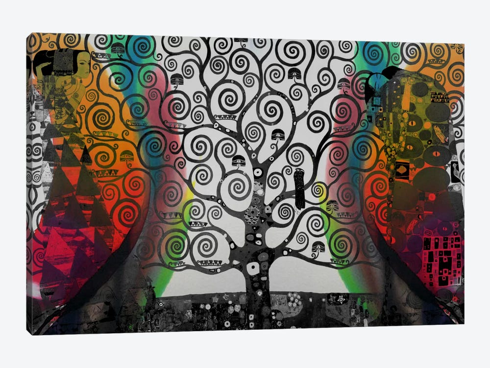 Life Tree in Negatives #2 1-piece Canvas Artwork