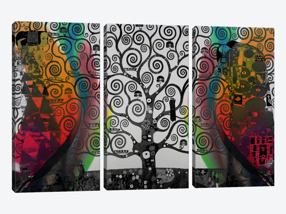 Life Tree in Negatives #2 by iCanvas 3-piece Canvas Wall Art