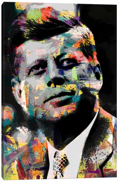 JFk Impressions #2 Canvas Art Print
