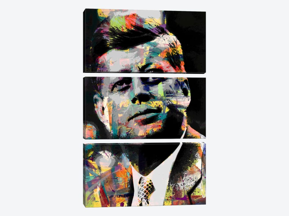 JFk Impressions #2 by iCanvas 3-piece Canvas Art Print