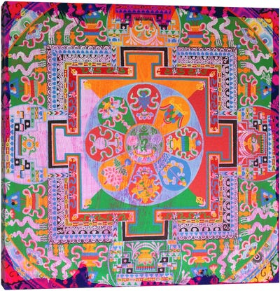 Indian Floral Design Canvas Print #UVP40