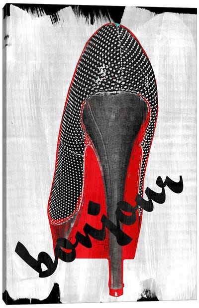 Bonjour Red Bottom Impression Canvas Art Print