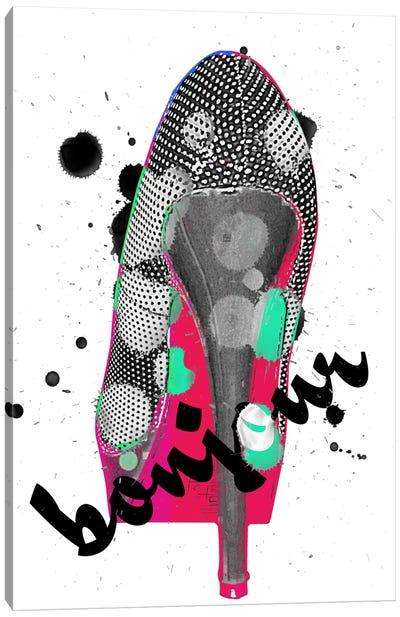 Bonjour Red Bottom Impression #2 Canvas Print #UVP41a