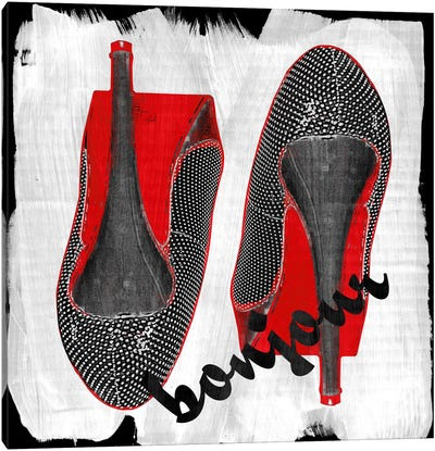 Bonjour Red Bottom Impression #6 Canvas Art Print