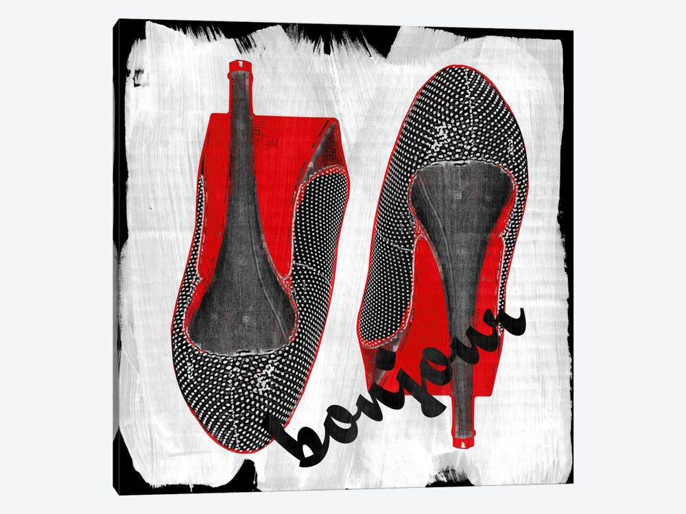 Bonjour Red Bottom Impression #6 by iCanvas 1-piece Canvas Print