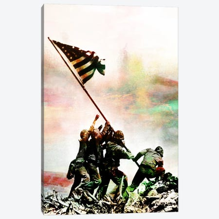 Iwo Jima Monumnet Impressions #2 Canvas Print #UVP44a} by iCanvas Canvas Wall Art