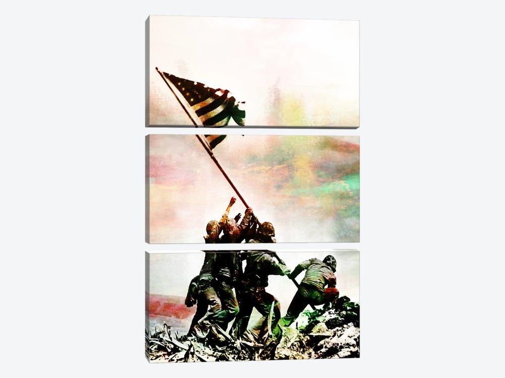 Iwo Jima Monumnet Impressions #2 by iCanvas 3-piece Canvas Artwork