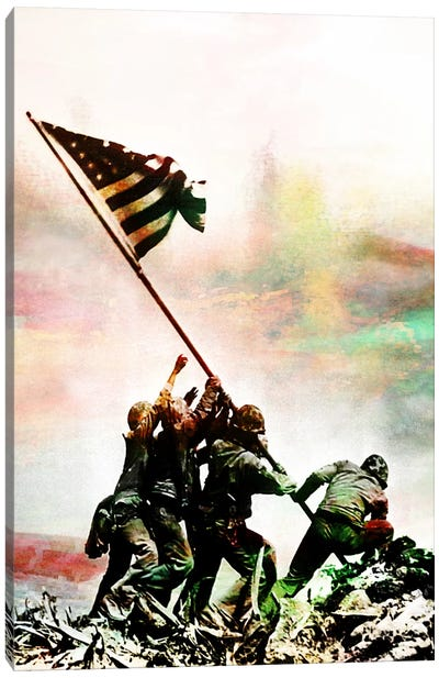 Iwo Jima Monumnet Impressions #2 Canvas Art Print