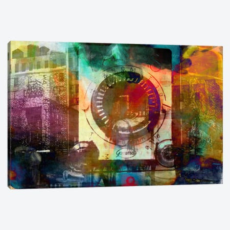 Retro Camera Impression Canvas Print #UVP48} by Unknown Artist Canvas Artwork