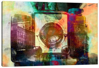 Retro Camera Impression #2 Canvas Art Print