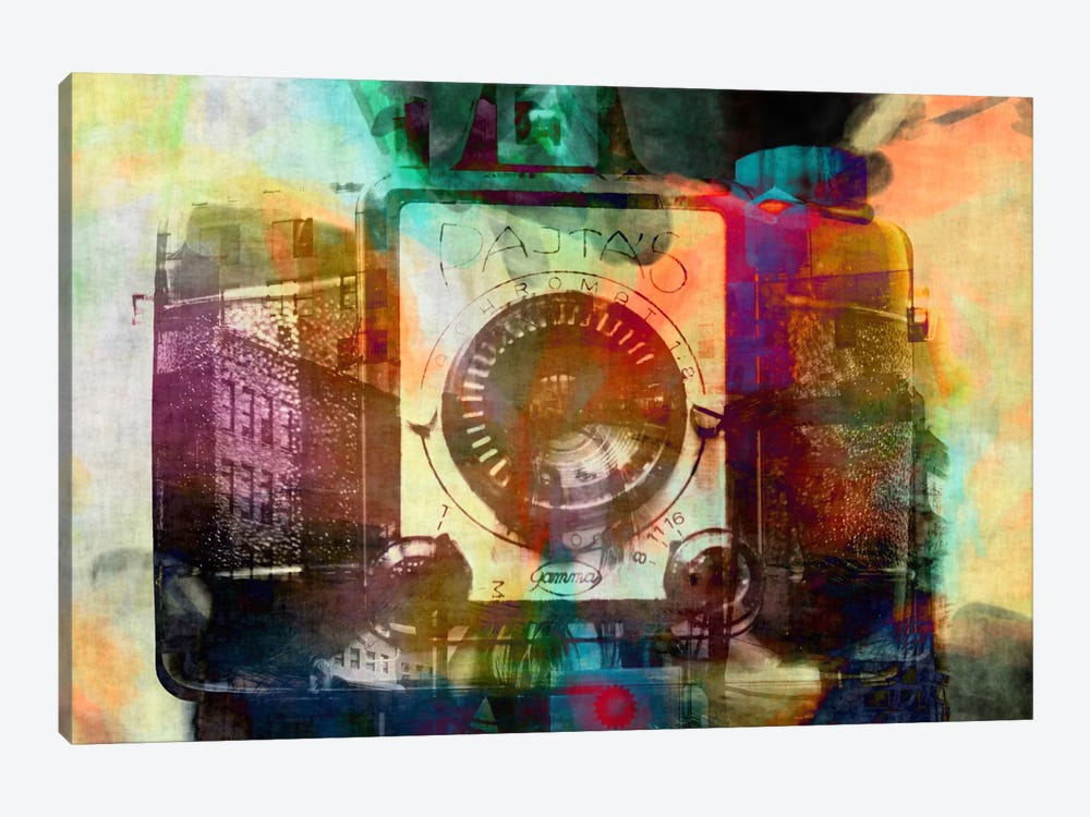Retro Camera Impression #2 by Unknown Artist 1-piece Canvas Wall Art