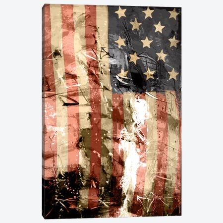 Star Spangled Grafitti Canvas Print #UVP4} by iCanvas Canvas Art
