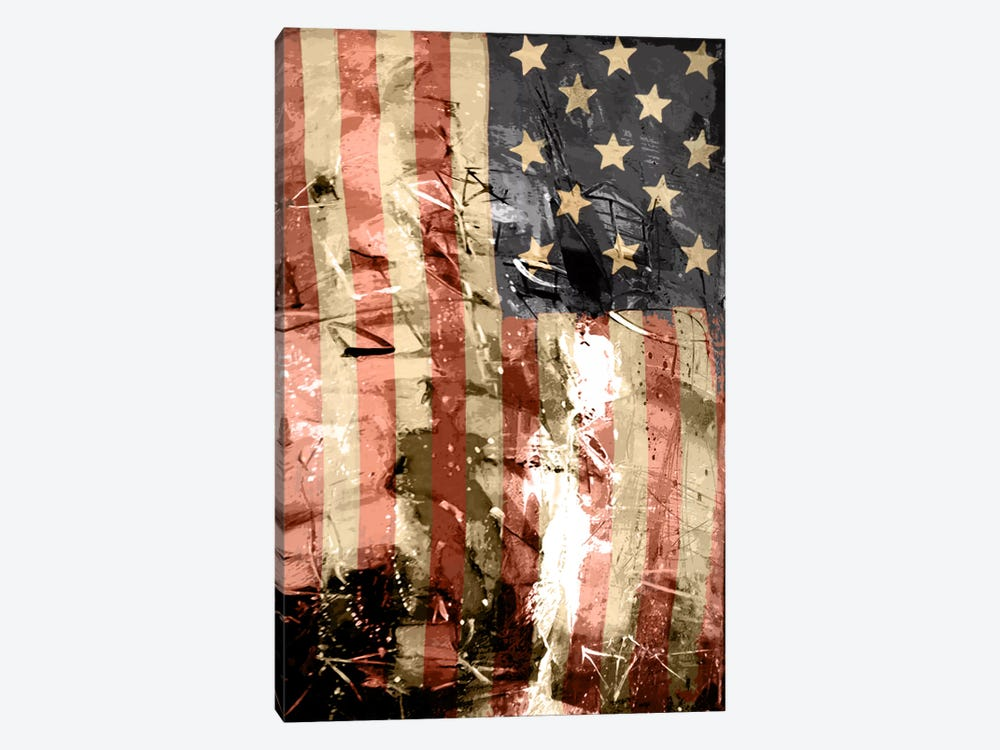 Star Spangled Grafitti by iCanvas 1-piece Canvas Art