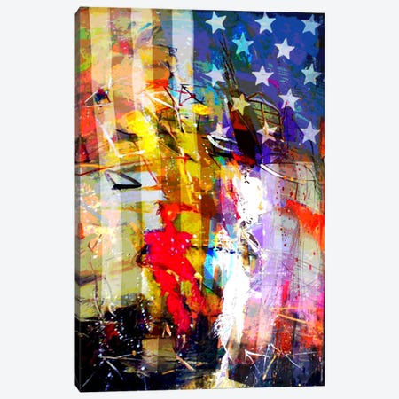 Star Spangled Grafitti #2 Canvas Print #UVP4b} by iCanvas Canvas Artwork