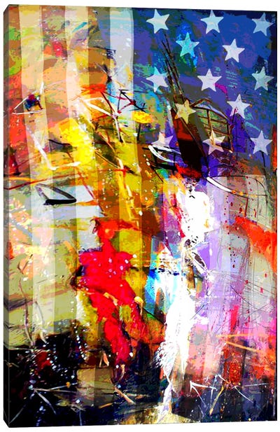 Star Spangled Grafitti #2 Canvas Art Print