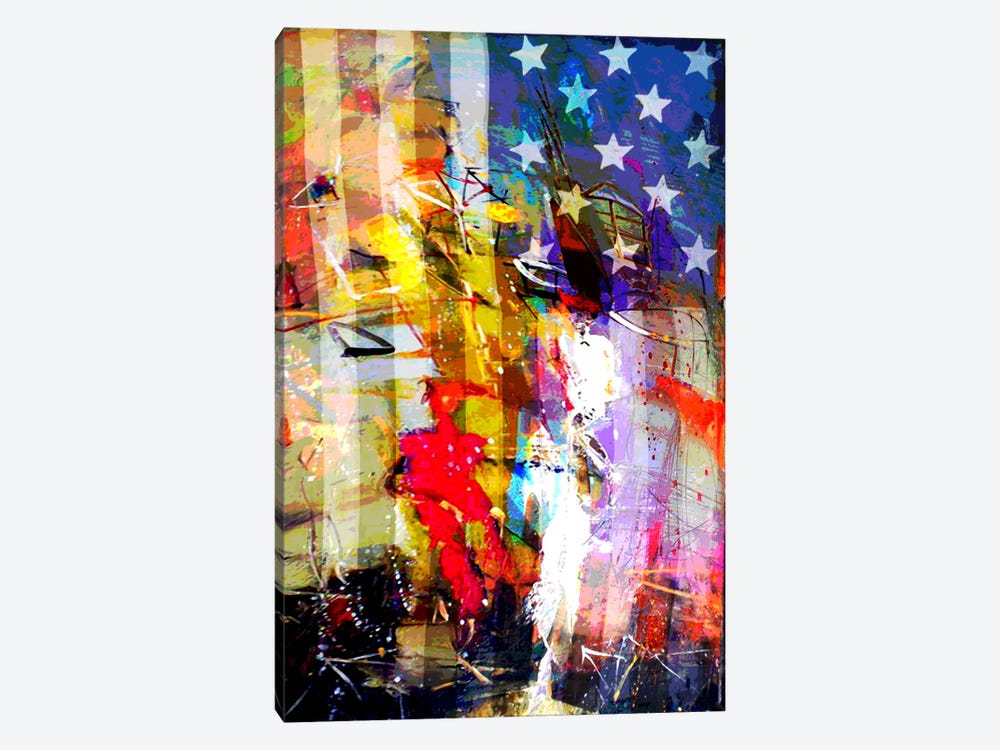 Star Spangled Grafitti #2 by iCanvas 1-piece Canvas Wall Art