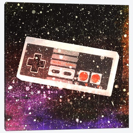 Galaxy Remote Canvas Print #UVP55} by Unknown Artist Canvas Artwork